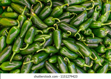 Pile of Jalapeno peppers at the market