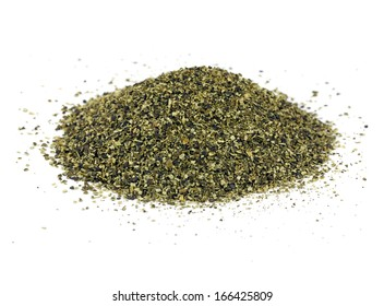 A pile of kelp meal, an ideal organic fertilizer and supplier of trace nutrients