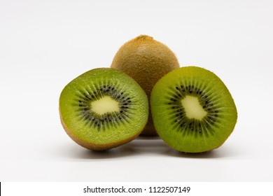 pile of kiwis, isolated on white background