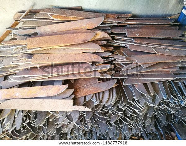 Pile Knife Made Leaf Spring Suspension Stock Photo (Edit Now