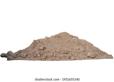 Pile of lateritic soil isolated on white background included clipping path.