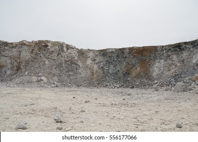 Pile of limestone in quarry