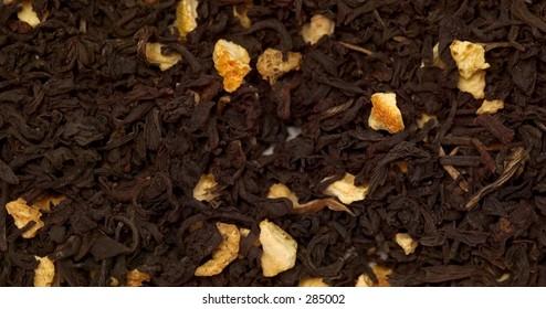 pile of loose orange tea