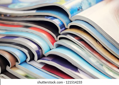 pile of magazines - colorful