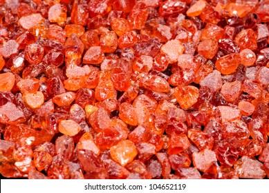 Pile of mandarin orange Spessartine Garnets