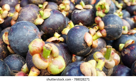 Pile of mangosteen on display for sale