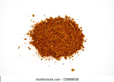 Pile of Masala Powder for fish, meat, chicken, vegetables on white background