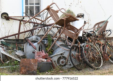 pile of metal and junk vintage rusted scrap prices trash