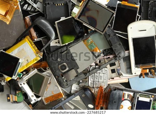 Pile of mobile phone scrap