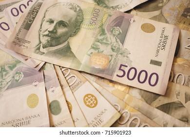 Pile of money serbian, dinar bills