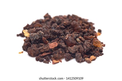 A Pile of Myrrh Isolated on a White Background
