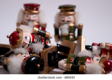 A pile of nutcrackers