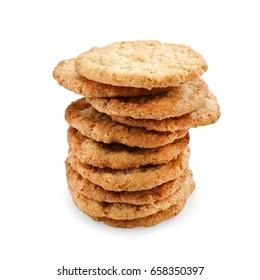Pile of oat cookies