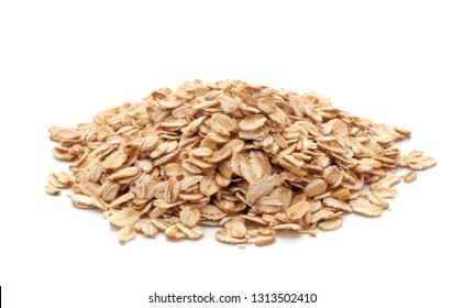 pile of oatmeal isolated on white background