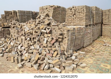 A pile of old bricks