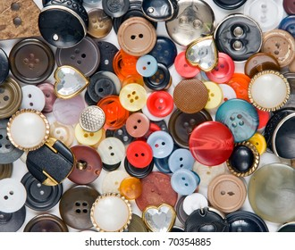 pile of old the buttons, background
