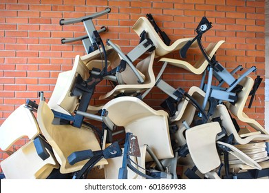 pile of old chair