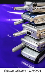 A pile of old GSM Cell phones