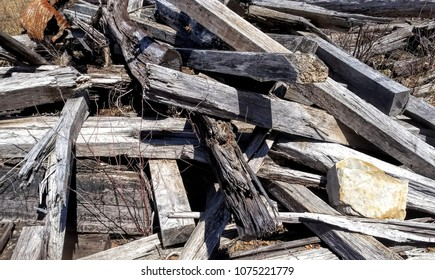 Pile Of Old Timber