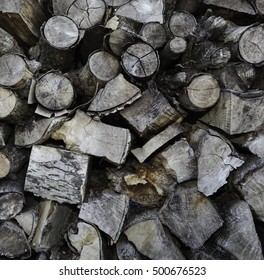 Pile of old wood