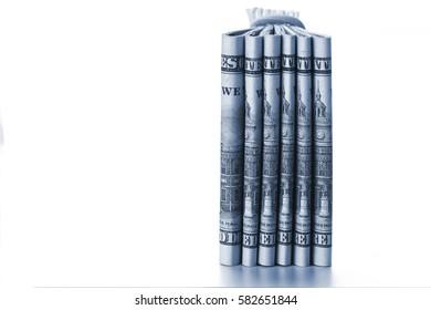 Pile of One Hundred Dollar Bill