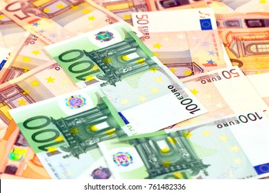 pile of paper euro bills as an illustration of financial risk