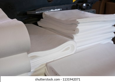 A pile of paper in the factory