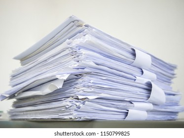 Pile of paper in old - Paper work concept