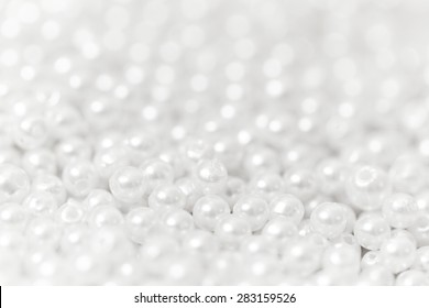 Pile of pearl on the white background