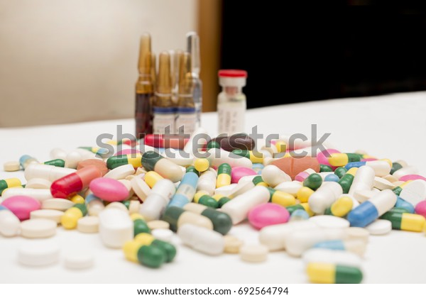 Pile of Pills, Tablets and Capsules