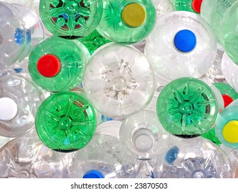Pile of Plastic Beverage Bottles