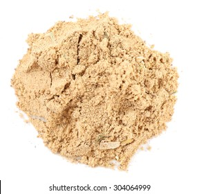 Pile of powdered tea isolated on white