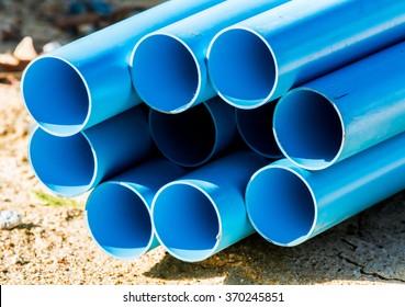 pile of pvc pipe