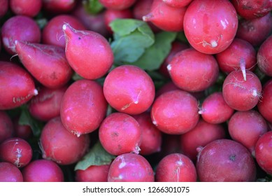 A pile of radishes