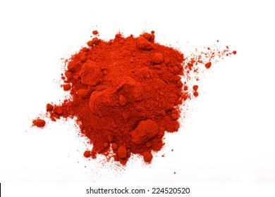 Pile of red paprika powder