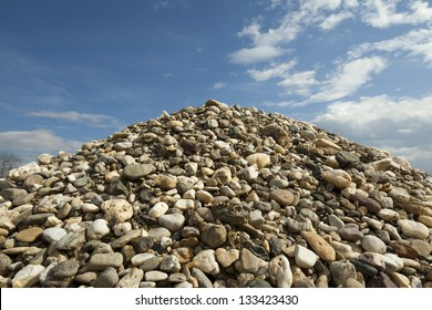 Pile of rocks and blue sky