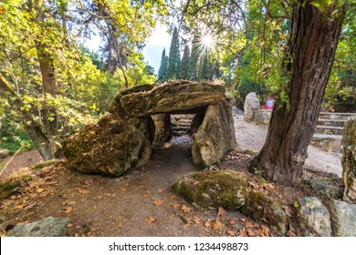Pile of rocks in Rodini park in city of Rhodes (Rhodes, Greece)