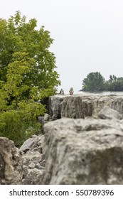 Pile rocks in the Sunnyside Park, Toronto, CA