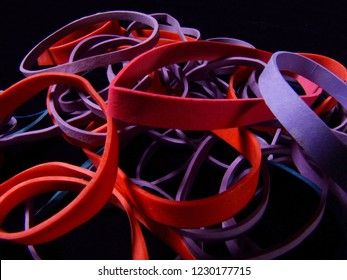 pile of rubber bands