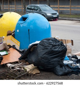 Pile of rubbish in the street