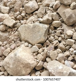 pile of sandstone rocks and rubble