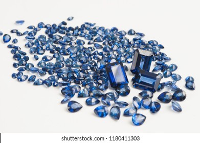Pile of saphire diamonds