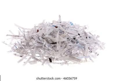 Pile of shredded paper