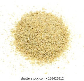 A pile of soybean meal, an ideal organic fertilizer and supplier of trace nutrients