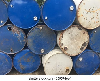Pile of Steel bucket rusted waiting for recycle.