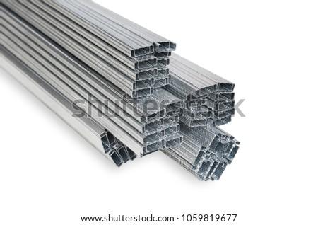 Pile Steel Studs Drywall Steel Studs Stock Photo (Edit Now ...