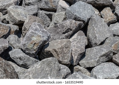 pile of stones for construction
