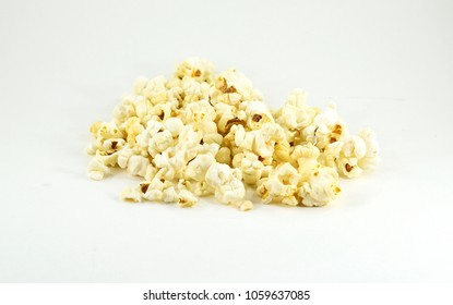 Pile of sweet and sugary freshly popped kettle corn - isolated