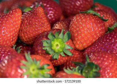 Pile of tasty sweet fresh red strawberry background.
