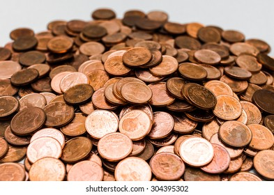 Pile of Thailand Coins